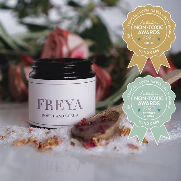 Gold Winner Freya's Nourishment - Rose Hand Scrub