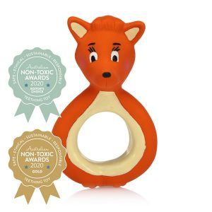 Mizzie the Kangaroo – Mini Mizzie – 100% Natural Rubber Teether