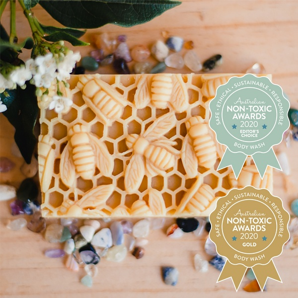 Gold Winner Nina's Bees - Natural Soap with Honey & Beeswax