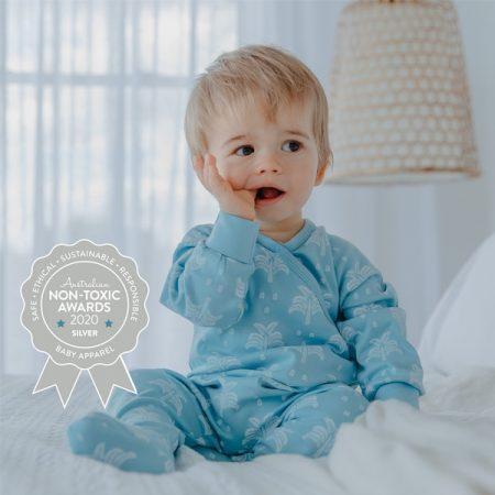 Organic Nights - GOTS Certified 100% Organic Cotton Baby Sleepsuit