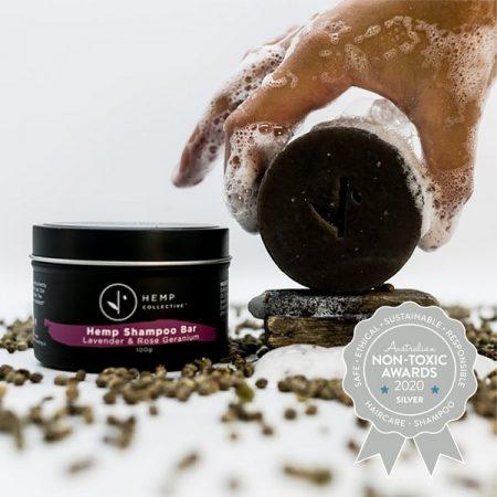 Silver Winner Hemp Collective - Organic Hemp Shampoo bar – Lavender & Rose Geranium