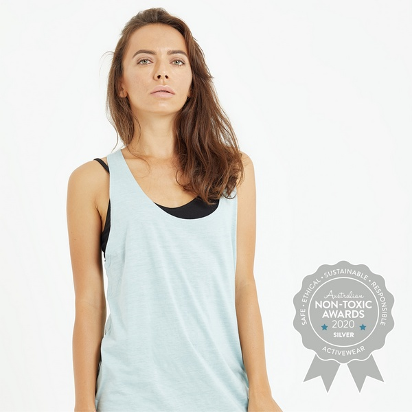 Luna and Soul – Oversized Tank - Silver Winner - Activewear - Australian Non-Toxic Awards 2020