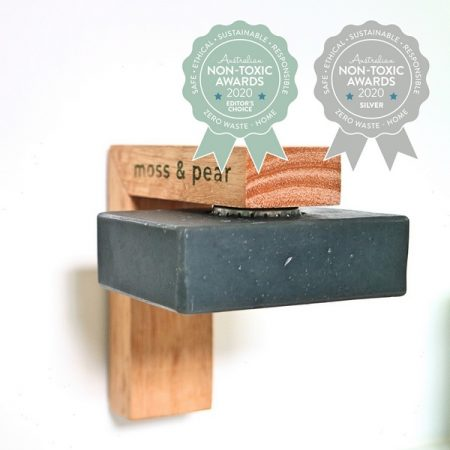Moss and Pear – Sustainable Timber Magnetic Soap Holder