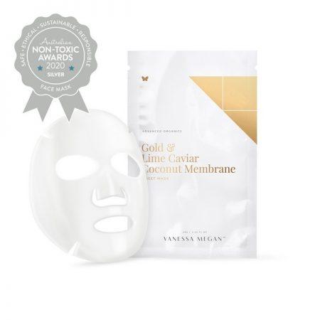 Silver Winner Vanessa Megan - Gold & Lime Caviar Coconut Membrane Sheet Mask