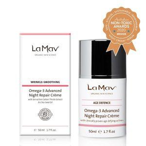Bronze Winner La Mav - Omega-3 Advanced Night Repair Crème