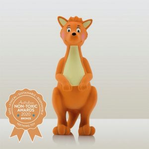 Mizzie the Kangaroo – 100% Natural Rubber Teething Toy