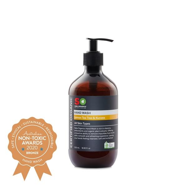 Bronze Saba Organics - Certified Organic Hand Wash - Lemon Tea Tree & Kunzea