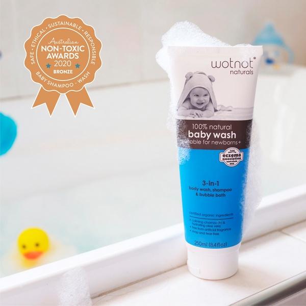 Wotnot – 100% Natural & Organic 3-in 1 Baby Wash, Shampoo & Bubble Bath