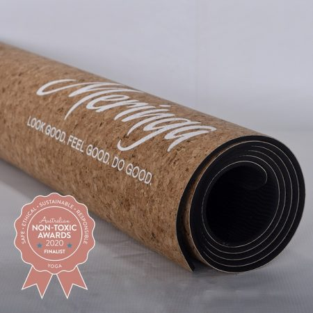 Mergina Cork- Gold Flecked Yoga Mat