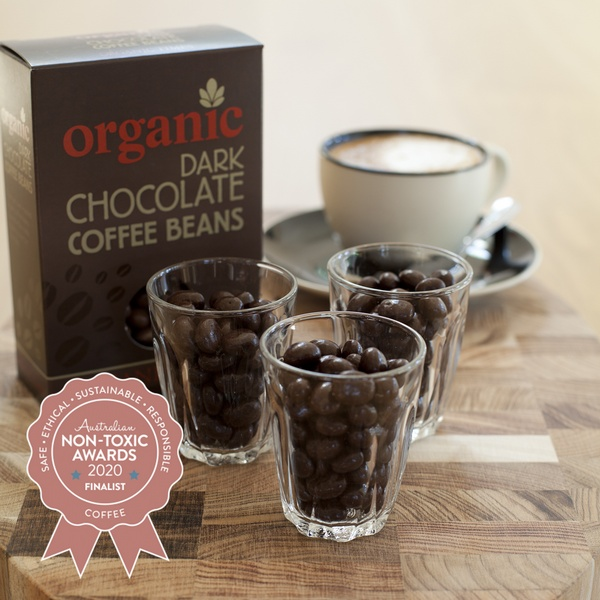 Organic Times-Organic Dark Chocolate Coffee Beans