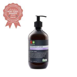Finalist Saba Organics - Certified Organic Hand & Body Lotion - Lavender & Shea Butter