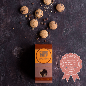 Organic Times Choc Chip Cookies - Finalists in the Australian Non-Toxic Awards 2020